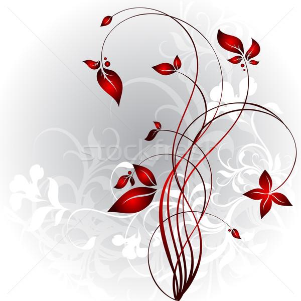 Floral illustration utile designer travaux fleur Photo stock © kjolak