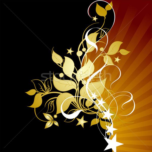 Floreale dettagliato illustrazione utile designer lavoro Foto d'archivio © kjolak