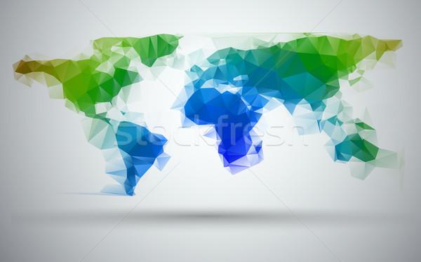 world map Stock photo © kjolak