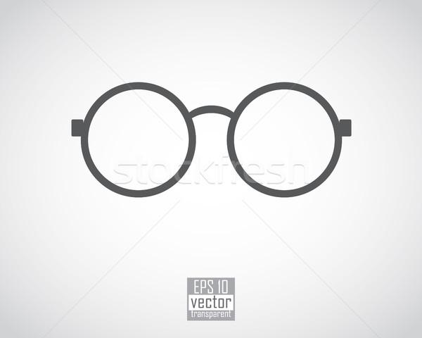 Szemüveg szemüveg vékony fekete keret fehér Stock fotó © kjolak