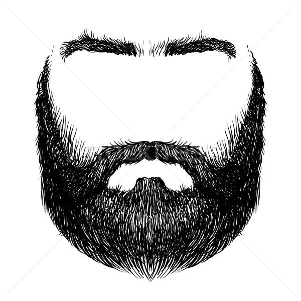 あごひげ 口ひげ 眉毛 フォーム ストックフォト © kjolak