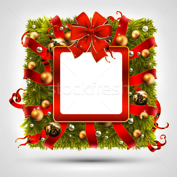 Christmas wreath in the shape of a square Stock photo © kjolak
