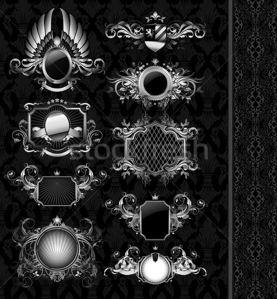 medeval heraldry shields Stock photo © kjolak
