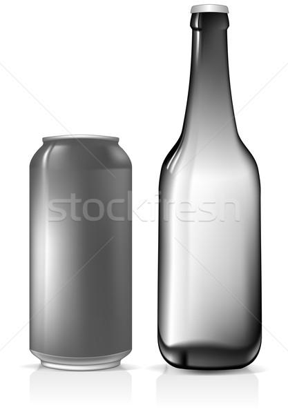 Cerveza establecer ilustración útil disenador trabajo Foto stock © kjolak
