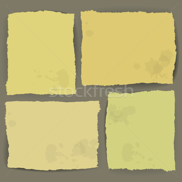 ragged paper design vector Stock photo © kjolak