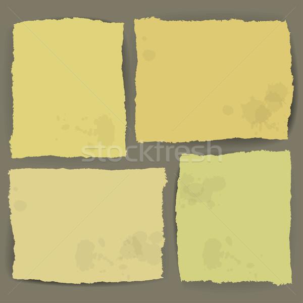 ragged paper design vector Stock photo © kjolak