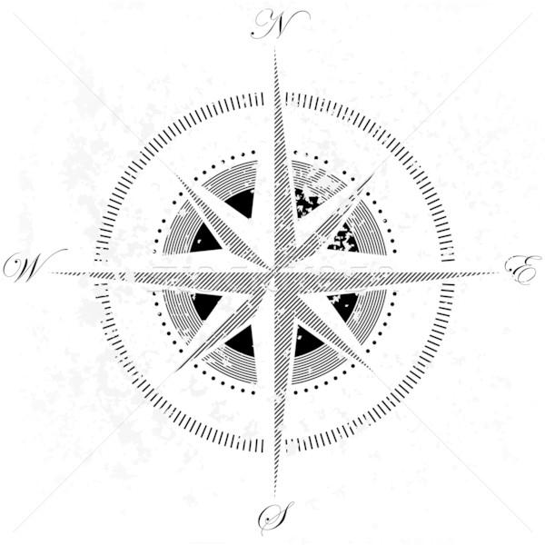 Stockfoto: Kompas · illustratie · nuttig · ontwerper · werk · reizen