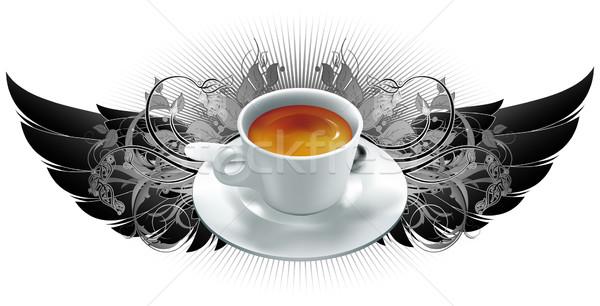 Кубок чашку кофе кофе геральдика Элементы иллюстрация Сток-фото © kjolak