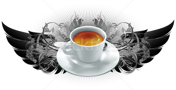 Beker koffiekopje koffie heraldiek communie illustratie Stockfoto © kjolak