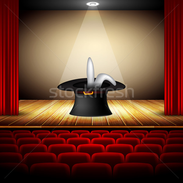 Hat mago fase interni auditorium arte Foto d'archivio © kjolak