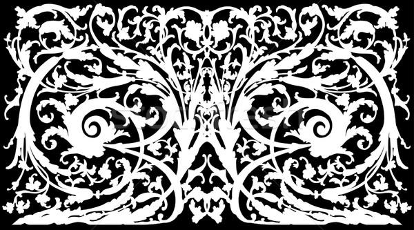 Refinado branco desenho decorativo ornamento Foto stock © kjolak