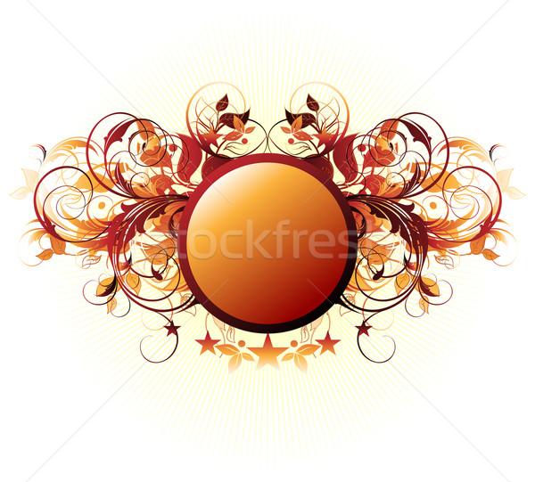 Stock fotó: Díszítő · pajzs · illusztráció · hasznos · designer · munka