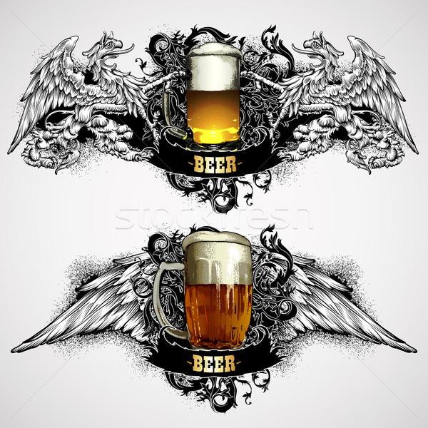 beer mugs decorative Stock photo © kjolak