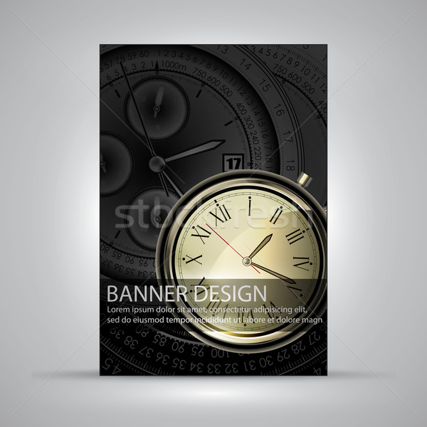 Banner design illustrazione utile designer lavoro Foto d'archivio © kjolak