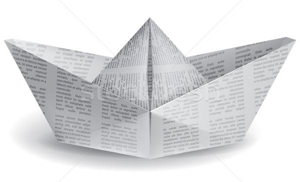 small paper boat Stock photo © kjolak