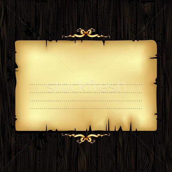 Carta legno frame illustrazione utile Foto d'archivio © kjolak