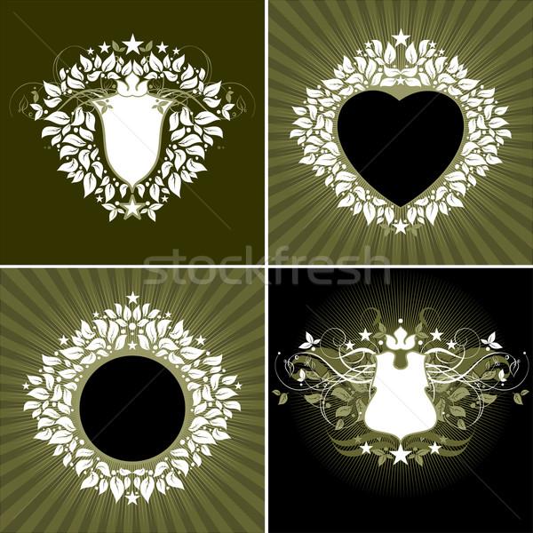 Stock fotó: Illusztráció · hasznos · designer · munka · virág · szív