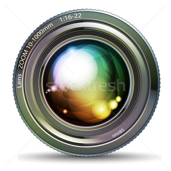 Fotoğraf objektif örnek yararlı tasarımcı çalışmak Stok fotoğraf © kjolak