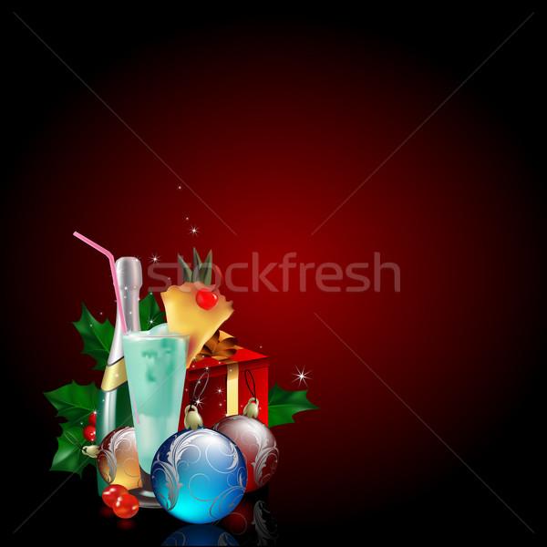 Christmas illustratie nuttig ontwerper werk groene Stockfoto © kjolak