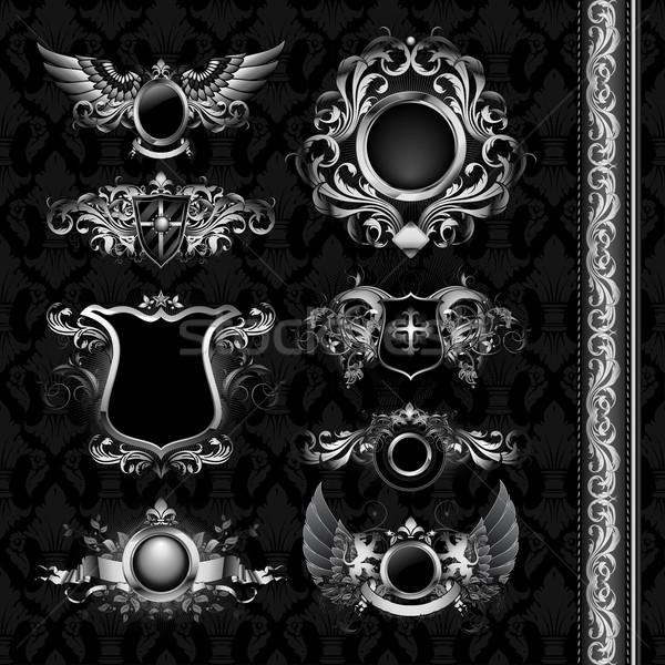 medieval heraldry shields Stock photo © kjolak