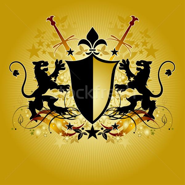 ornamental shield Stock photo © kjolak