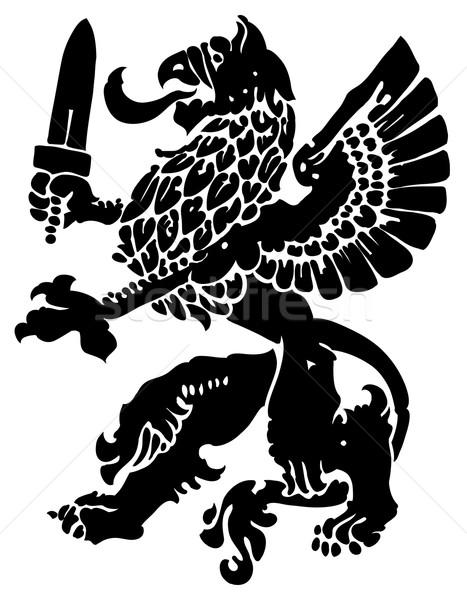 грифон мифический зверь используемый средневековых геральдика Сток-фото © kjolak