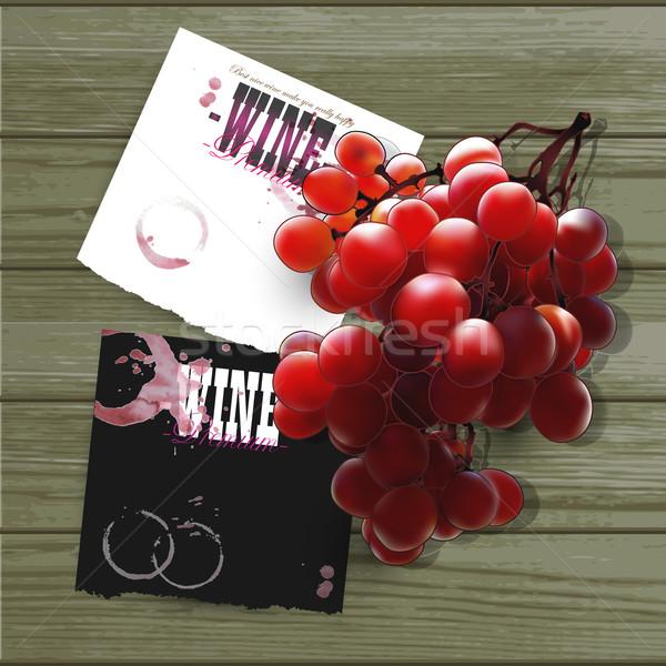wine and grapevine Stock photo © kjolak