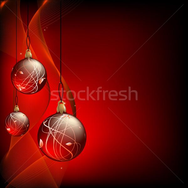 Karácsony díszes fenyő golyók illusztráció hasznos Stock fotó © kjolak