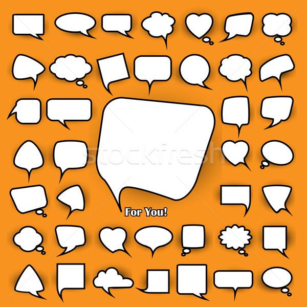 set of chat bubbles Stock photo © kjolak