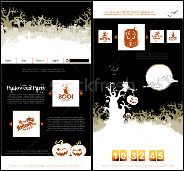 Halloween terv design sablon buli meghívók hely Stock fotó © kjolak