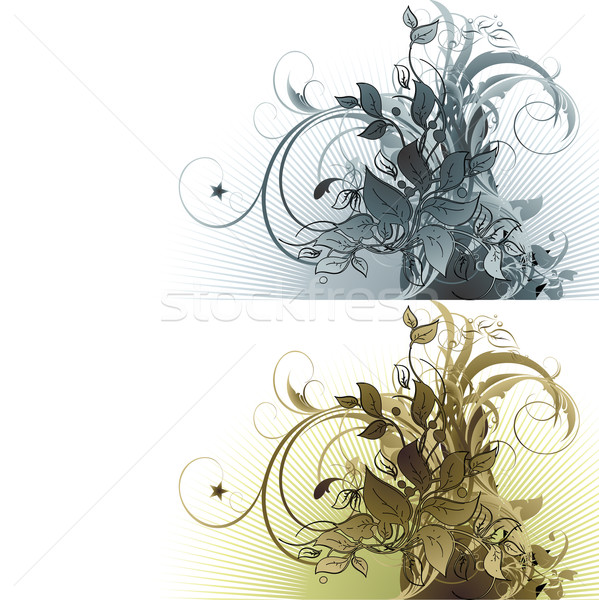 Floral ilustración útil disenador trabajo flor Foto stock © kjolak