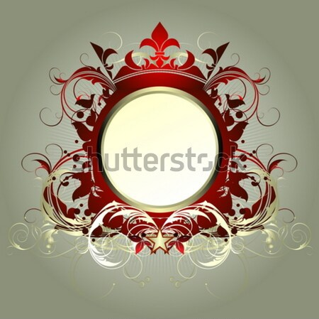 ornamental shield Stock photo © kjolak