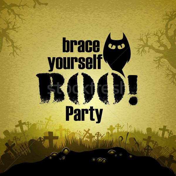 Stockfoto: Halloween · illustratie · nuttig · ontwerper · werk · partij