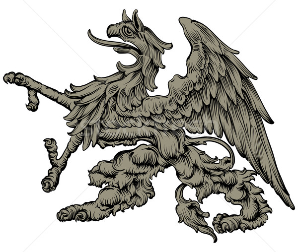 heraldic griffin Stock photo © kjolak