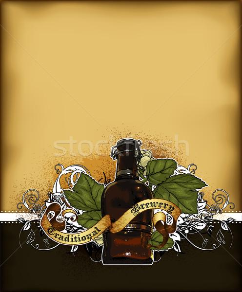 Cerveza ilustración útil disenador trabajo bar Foto stock © kjolak