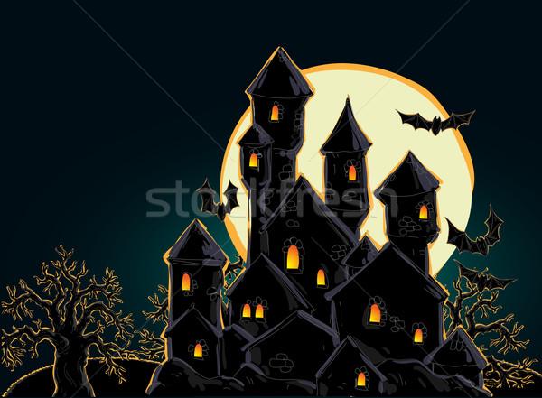 Halloween illustrazione utile designer lavoro albero Foto d'archivio © kjolak