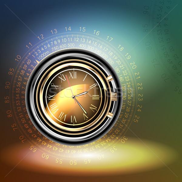 Relógios ilustração útil estilista trabalhar tempo Foto stock © kjolak