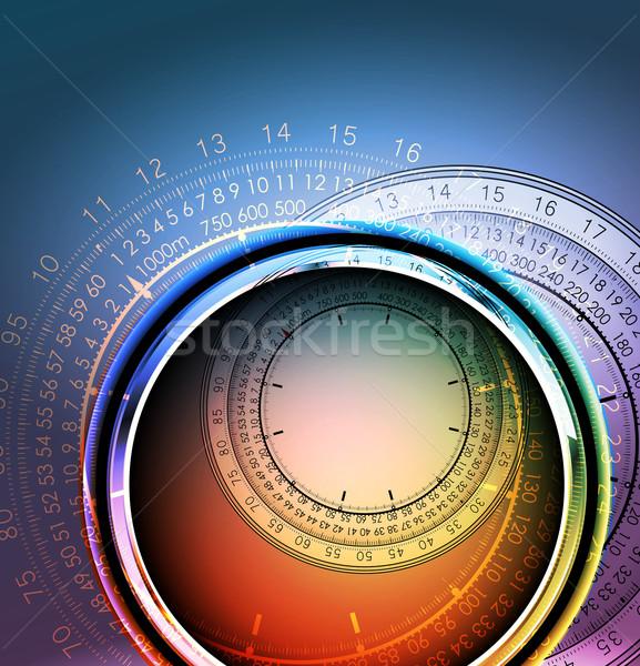 Orologi illustrazione utile designer lavoro abstract Foto d'archivio © kjolak