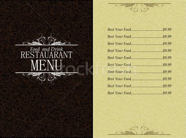 éttermi étel ital menü design sablon terv rajz Stock fotó © kjolak
