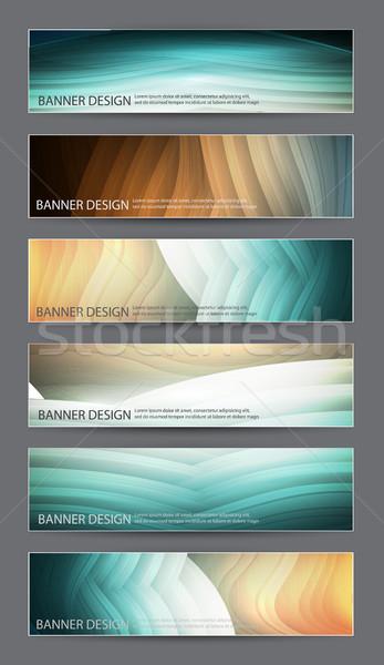 аннотация баннер дизайна набор шесть Баннеры Сток-фото © kjolak