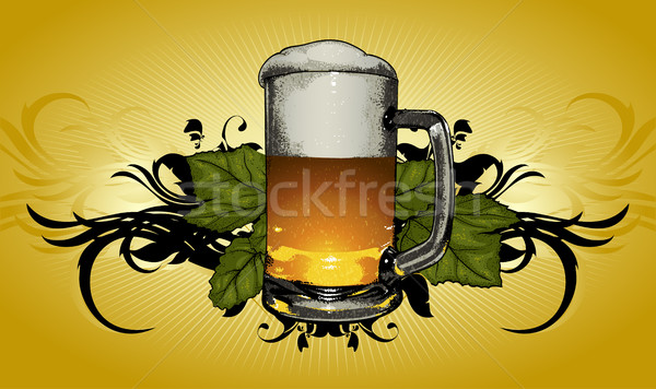 beer mug decorative Stock photo © kjolak
