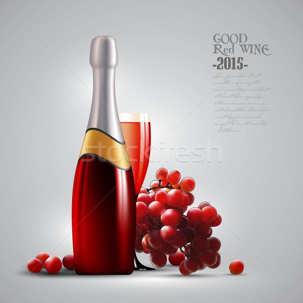 Wina winorośl ilustracja przydatny projektant pracy Zdjęcia stock © kjolak