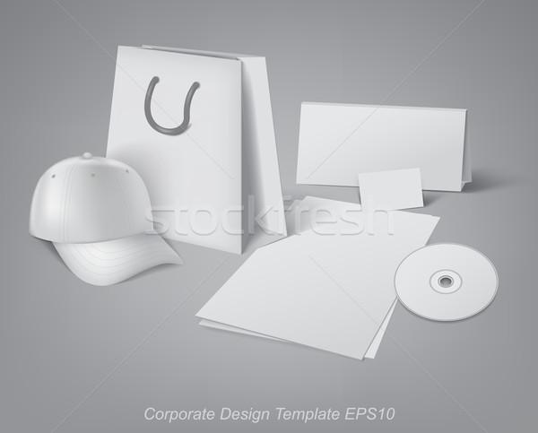 Vállalati design sablon terv sablonok fejlesztés iroda Stock fotó © kjolak