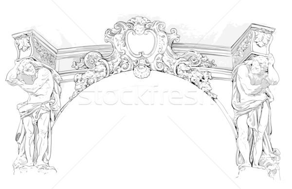antique drawing Stock photo © kjolak