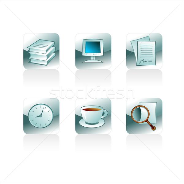 Conjunto escritório ilustração útil estilista trabalhar Foto stock © kjolak