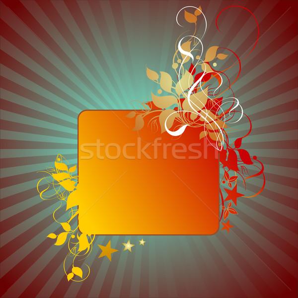floral detailed background Stock photo © kjolak