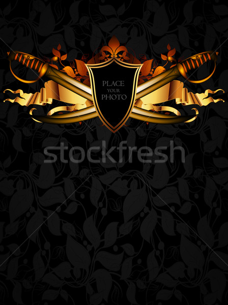 ornamental shield with arms Stock photo © kjolak