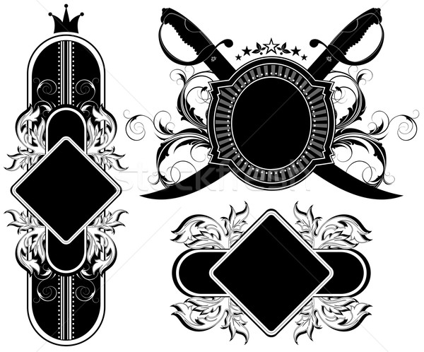set of ornamental labels Stock photo © kjolak
