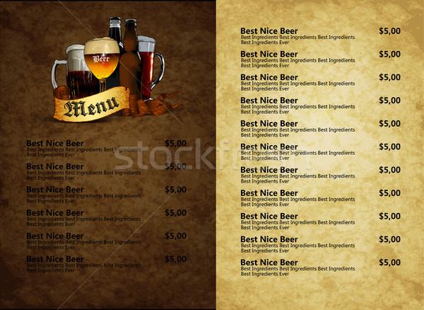 design template beer menu Stock photo © kjolak