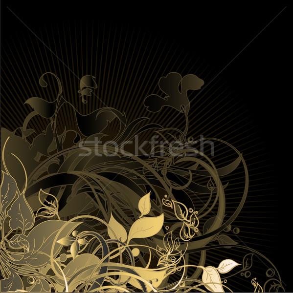 Floral marco ilustración útil disenador trabajo Foto stock © kjolak